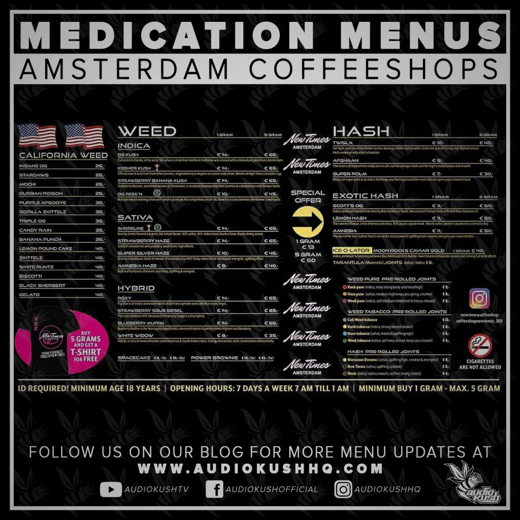 Medication Menu update: Coffeeshop Baba, Amsterdam (19 March 2020). Coffeeshop Baba is located at Spuistraat 260, 1012VW  in Amsterdam.