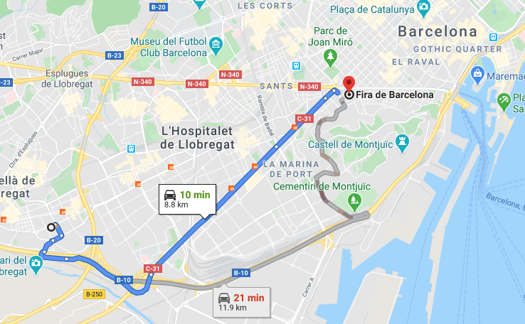 Mobile World Congress was scheduled just 8.8km away from the site of Spannabis.